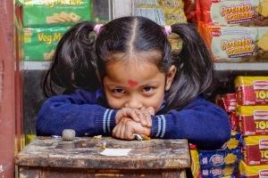 Mädchen in Thamel   Kathmandu